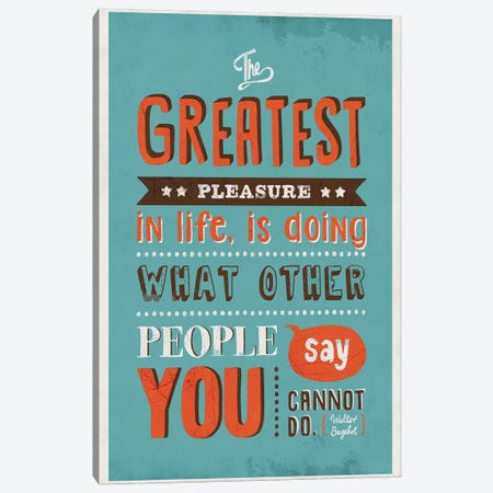The Greatest Pleasure Canvas Print #KAY41} by Ester Kay Canvas Art