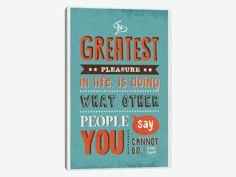 The Greatest Pleasure by Ester Kay 1-piece Canvas Art