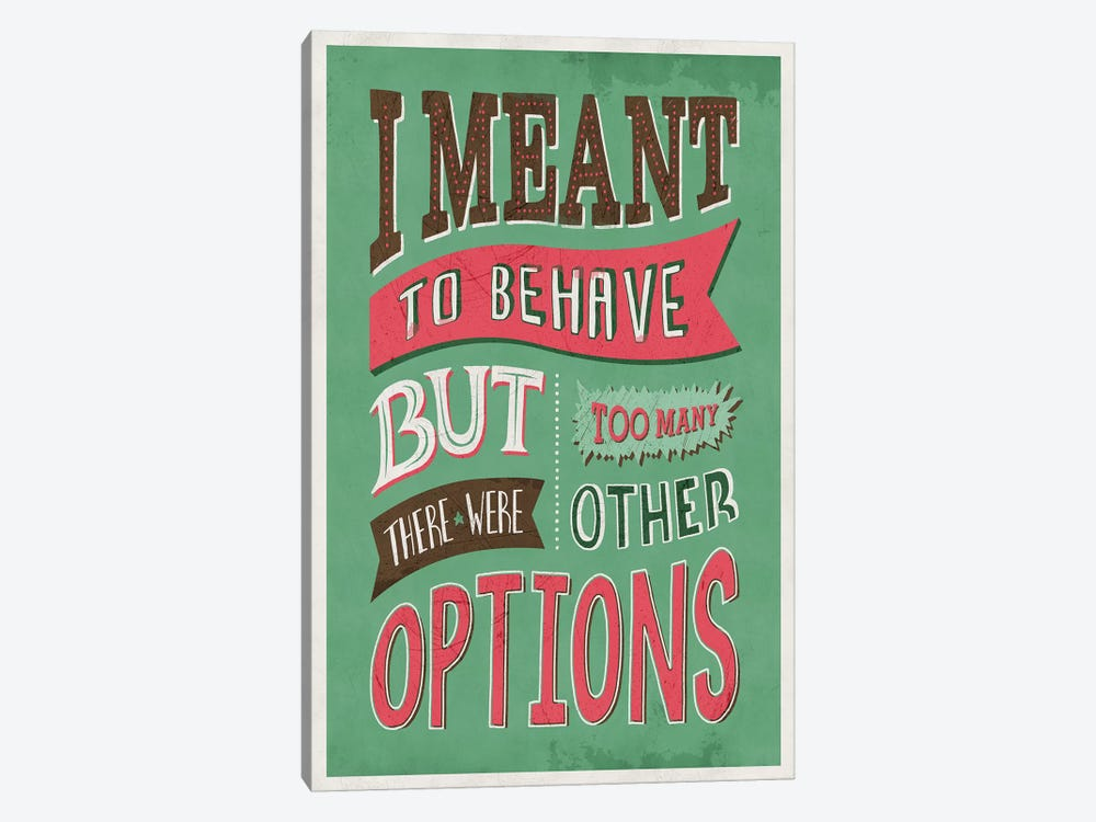 Too Many Options by Ester Kay 1-piece Canvas Wall Art