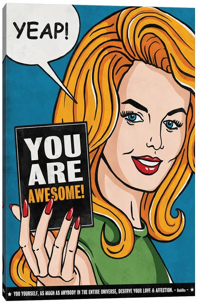 You Are Awesome Canvas Art Print
