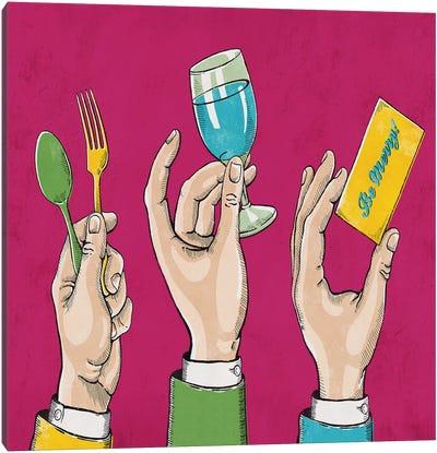 Eat Drink Be Merry Canvas Art Print