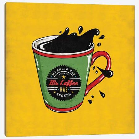 Mr Coffee Canvas Print #KAY50} by Ester Kay Canvas Art Print
