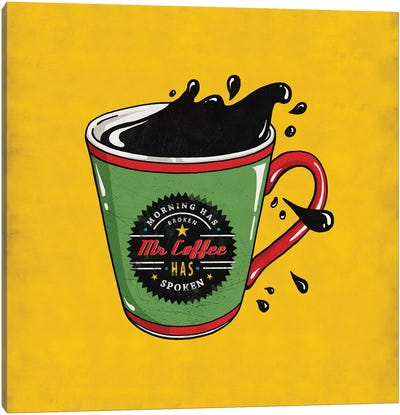 Mr Coffee Canvas Art Print