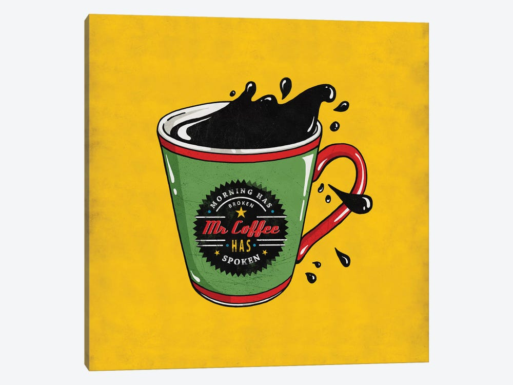 Mr Coffee by Ester Kay 1-piece Canvas Wall Art