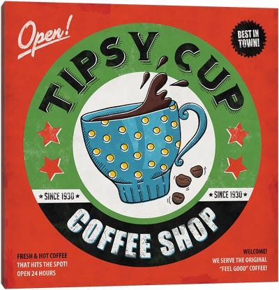 Tipsy Cup Canvas Art Print