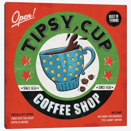 Tipsy Cup Canvas Print #KAY51} by Ester Kay Canvas Art Print