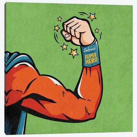 Super Hero Canvas Print #KAY55} by Ester Kay Canvas Art
