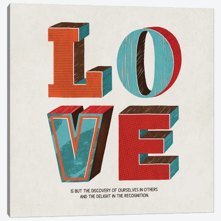 Love Is Canvas Print #KAY57} by Ester Kay Canvas Art