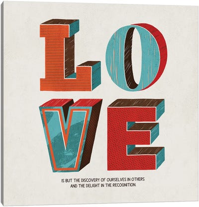 Love Is Canvas Art Print
