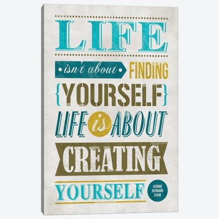 Create Yourself Canvas Print #KAY5} by Ester Kay Canvas Artwork