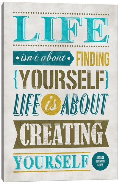 Create Yourself Canvas Art Print