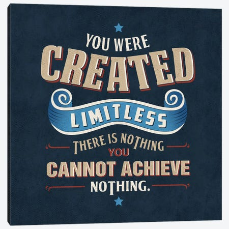 You Are Limitless Canvas Print #KAY61} by Ester Kay Canvas Artwork