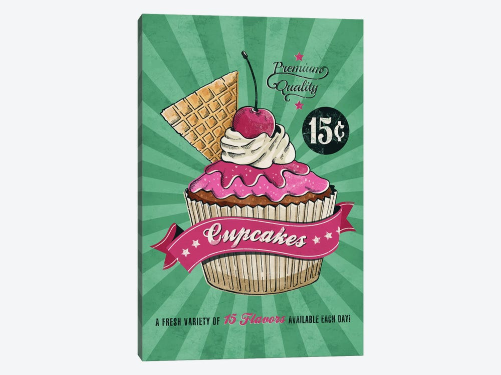 Cupcake by Ester Kay 1-piece Canvas Artwork