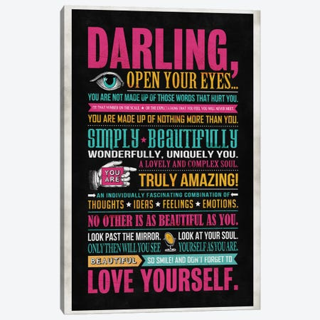 Darling Canvas Print #KAY7} by Ester Kay Canvas Art