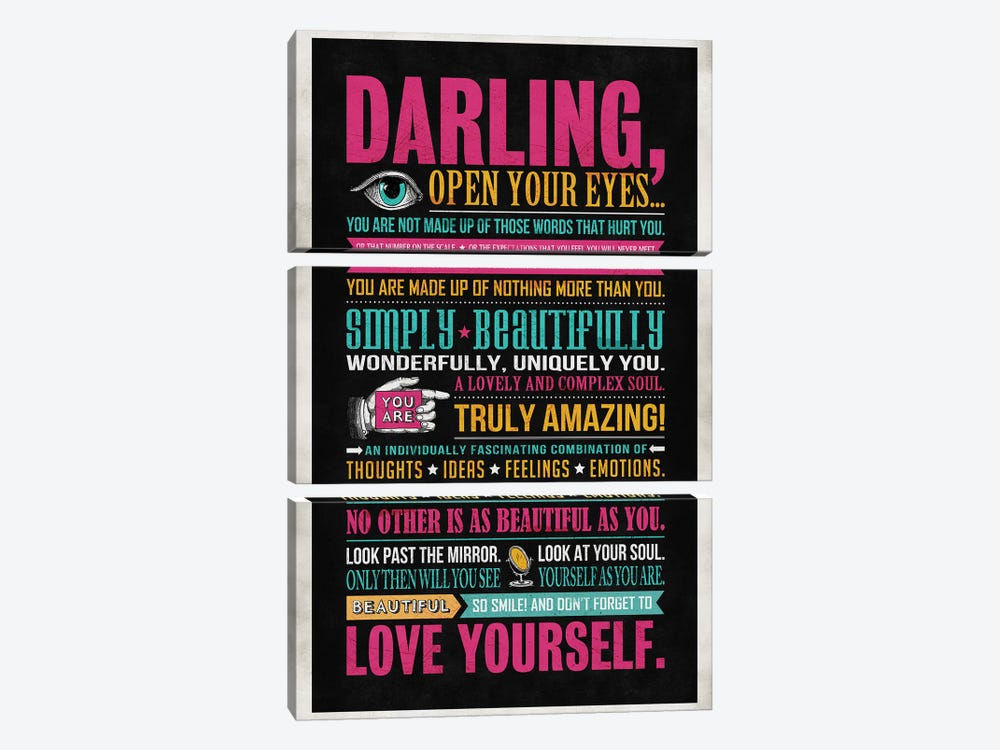 Darling by Ester Kay 3-piece Canvas Print