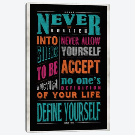 Define Yourself Canvas Print #KAY8} by Ester Kay Art Print