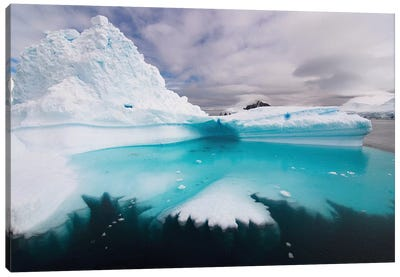 Floating Iceberg, Southern Ocean Canvas Print #KAZ1