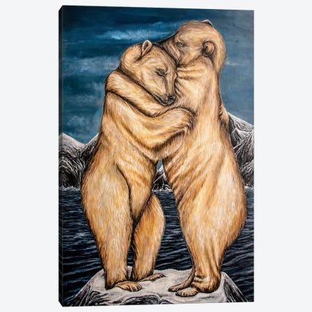 Melting Hearts Canvas Print #KBA23} by Karin Brauns Canvas Wall Art