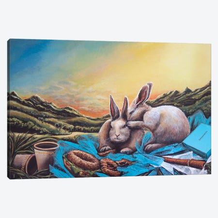 What's For Breakfast She Asked Canvas Print #KBA53} by Karin Brauns Art Print