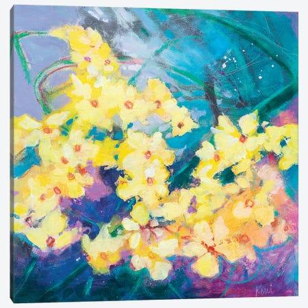 Daffodil Storm Canvas Print #KBC114} by Kerri McCabe Art Print