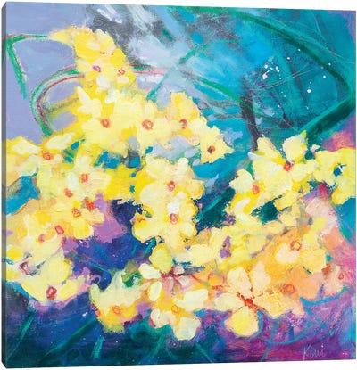 Daffodil Storm Canvas Art Print