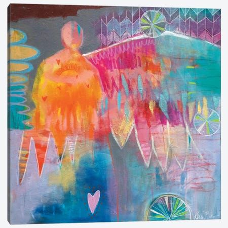 Give Us Warm Hearts Canvas Print #KBC15} by Kerri McCabe Canvas Wall Art