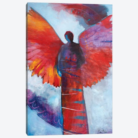 Love Is A Fire Canvas Print #KBC19} by Kerri Blackman Art Print