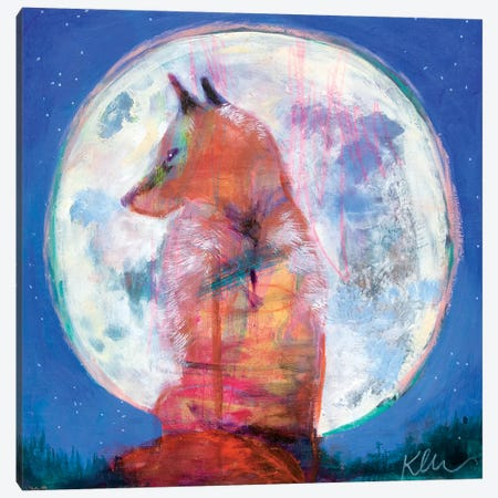 Moon Rise Canvas Print #KBC22} by Kerri Blackman Canvas Artwork