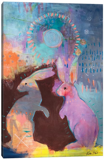 Rabbit Magic Canvas Art Print