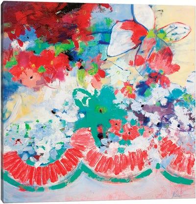 Flower Garlands Canvas Art Print