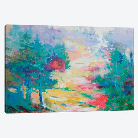 A Haven On The Hill Canvas Print #KBC57} by Kerri Blackman Canvas Artwork