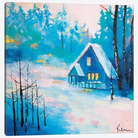 Snowy Solitude Canvas Print #KBC76} by Kerri Blackman Canvas Artwork