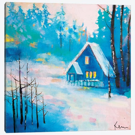 Snowy Solitude Canvas Print #KBC76} by Kerri McCabe Canvas Artwork