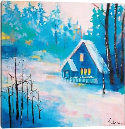 Snowy Solitude Canvas Art Print