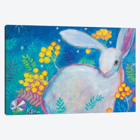 Wild In The Garden Canvas Print #KBC77} by Kerri Blackman Canvas Art