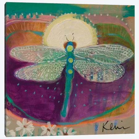 Jewel With Wings Canvas Print #KBC81} by Kerri Blackman Canvas Art