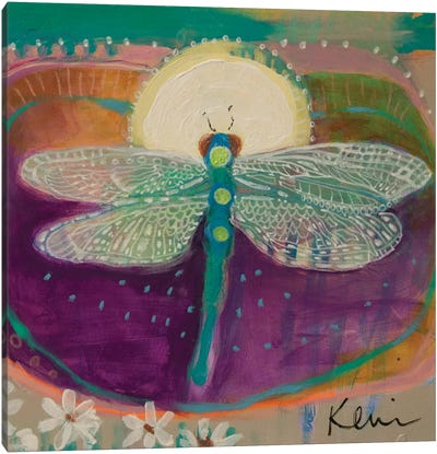 Jewel With Wings Canvas Art Print