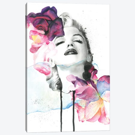 Red Monroe Canvas Print #KBE23} by Kerry Beall Canvas Artwork