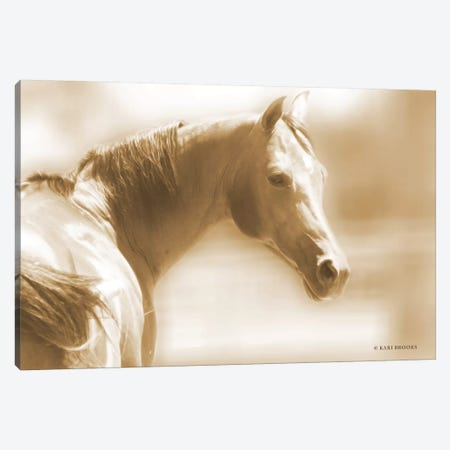 Rose I Sepia Canvas Print #KBK10} by Kari Brooks Canvas Print