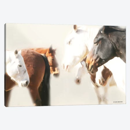 The Herd     Canvas Print #KBK12} by Kari Brooks Art Print
