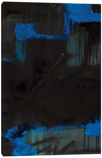 Black Azul Canvas Art Print