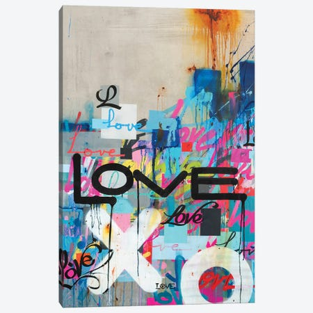 Concrete Love Canvas Print #KBM14} by KBM Canvas Art