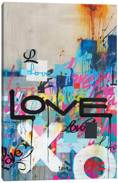 Concrete Love Canvas Art Print