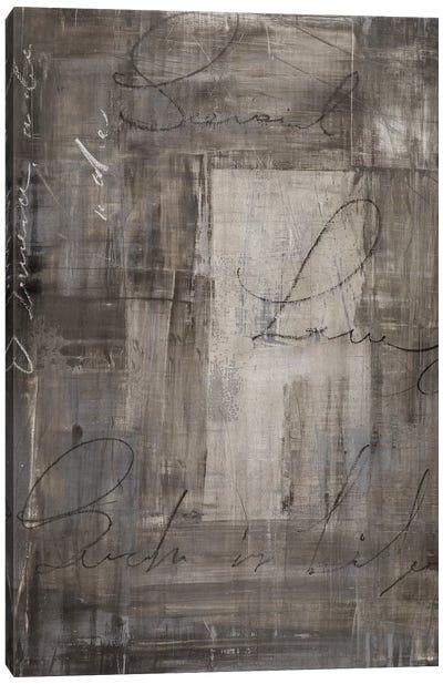 Gray Living Canvas Art Print