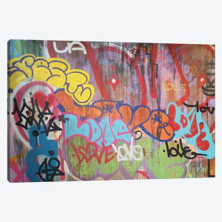 LA Graf Love Canvas Print #KBM27} by KBM Canvas Art Print
