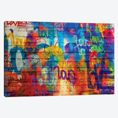 Off The Wall Love I Canvas Print #KBM40} by KBM Canvas Wall Art