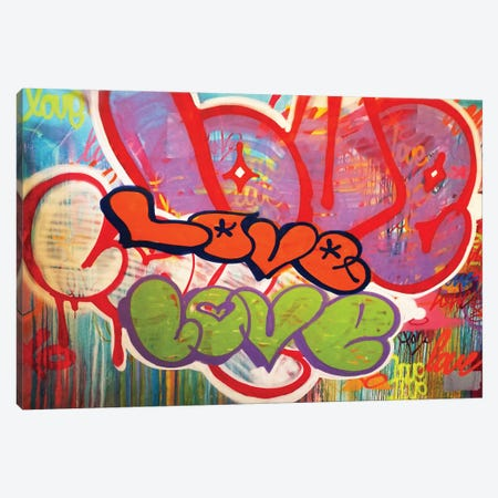 Off The Wall Love II Canvas Print #KBM41} by KBM Canvas Art