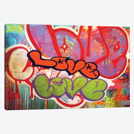 Off The Wall Love II Canvas Print #KBM41} by KBM Canvas Art