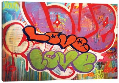 Off The Wall Love II Canvas Art Print