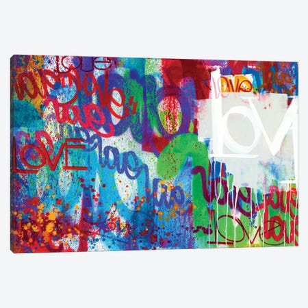 One Love I Canvas Print #KBM42} by KBM Canvas Art